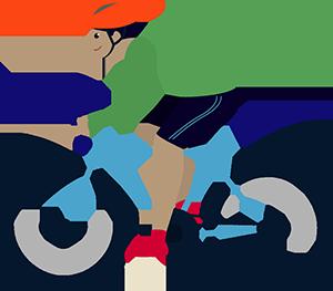 Male Biker