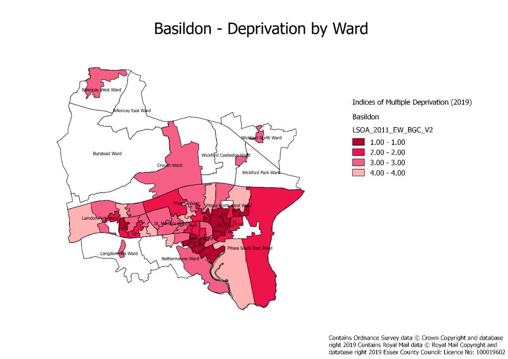 Basildon Deprivation by ward