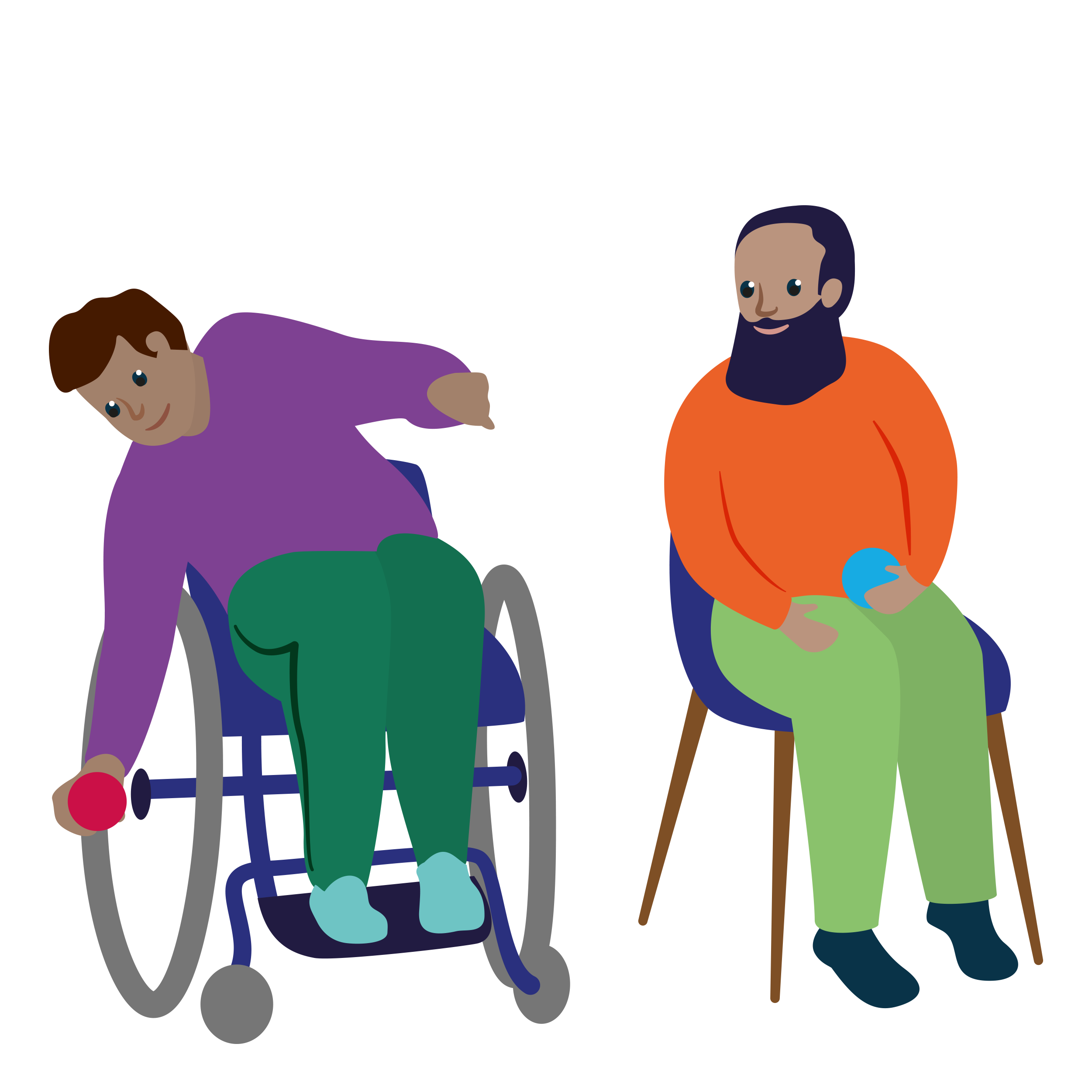 individual in wheelchair playing boccia