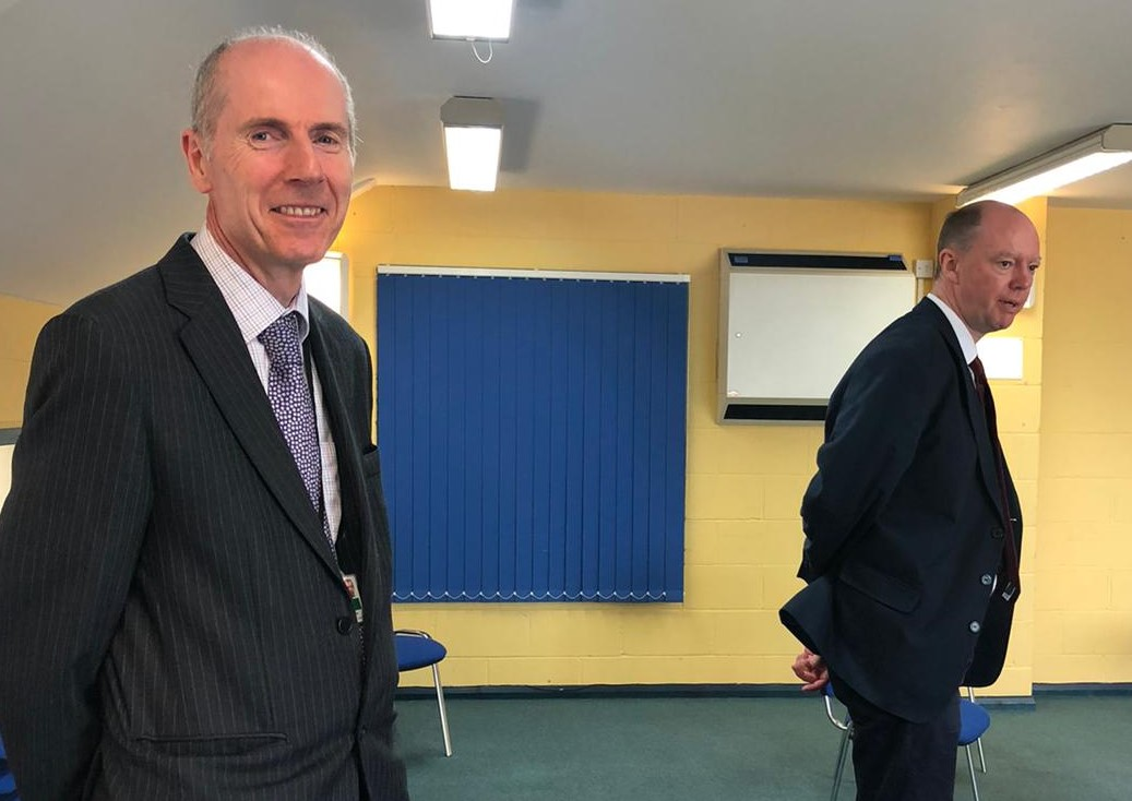 Chris Whitty, Chief Medical Officer, visited Clacton and Jaywick