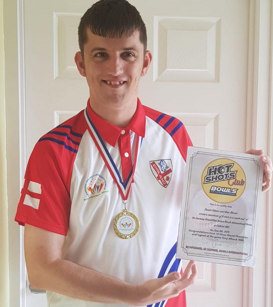 Daniel Adams, International Disability Bowls Champion takes on Walking Challenge
