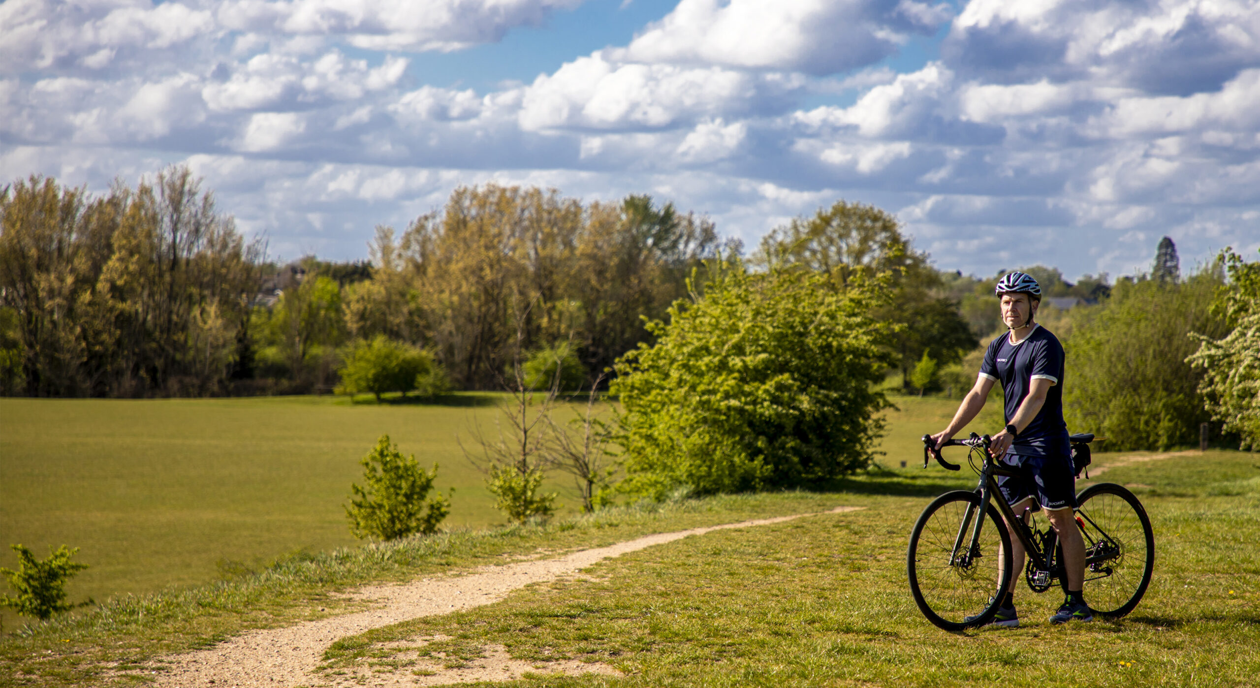 cycling in the park image